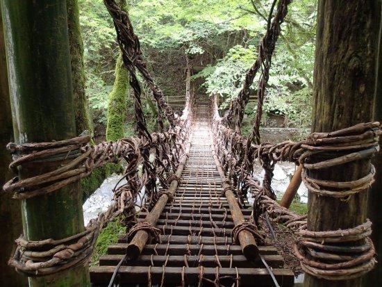 こっちは女橋。人一人がやっと通...