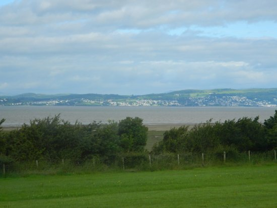 Bay View Holiday Park: View to Barrow in Furness from the site