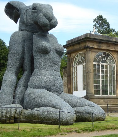 Yorkshire Sculpture Park : Another huge sculture of a hare with a human body made