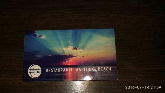 Restaurante Maritimo: biglietto da visita