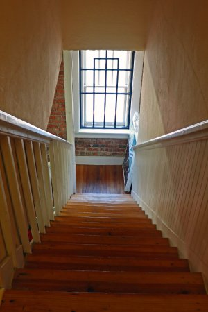Brownwood, TX: Stairs to the living quarters above the dining halls
