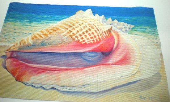 Rockley, Barbados: set/4 placemats Queen conch