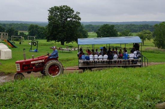 Burton, OH: Wagon ride around the farm
