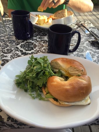 Victor, ID: Enjoyed the California Sammie! The bagel was fresh and soft. The pesto added great flavor!