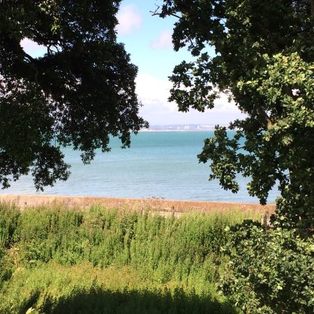 Seaview, UK: The view of the sea from puckpool park