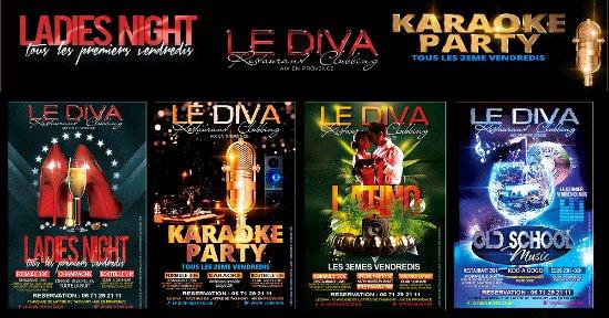 Le Diva : les soirees su DIVA, le resto club pas cher pour sortir la nuit a aix en provence