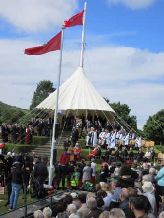 St Johns, UK: Tynwald Hill during midsummer sitting