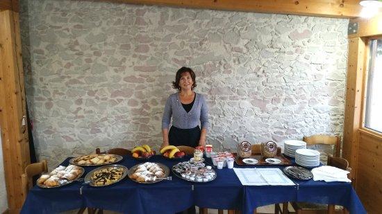 Castelsantangelo sul Nera, Włochy: SALA COLAZIONI