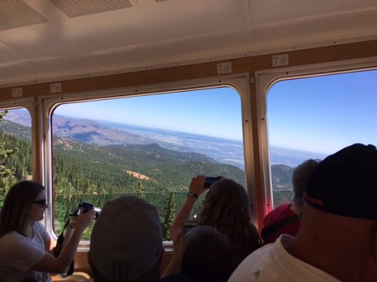 Manitou Springs, CO: VIew from our seat on Cog Train