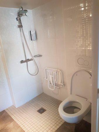 Campanile Chalon-Sur-Saone : La déprimante salle de bain d'hôpital conçue pour personne à mobilité réduite