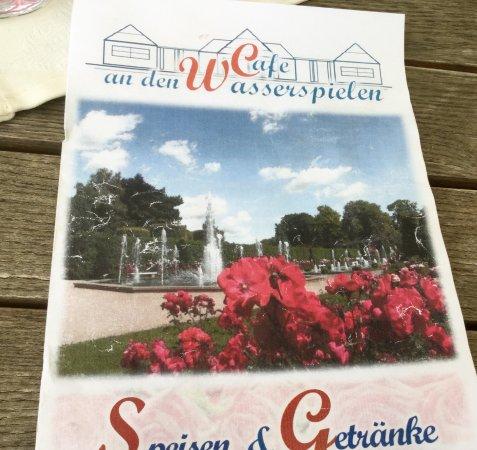Forst, Deutschland: Speisekarte des Café