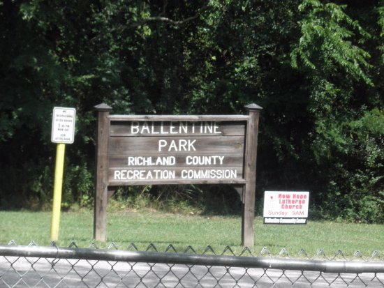 Ballentine Community Center: sign