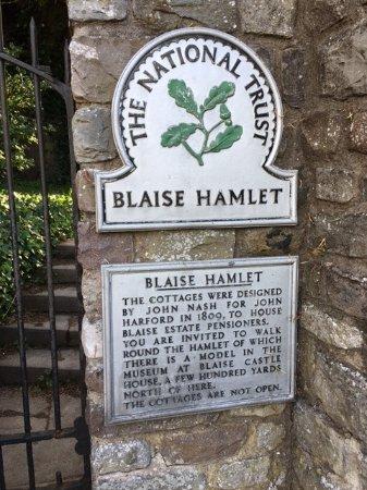 Blaise Hamlet: Just as you enter the gate