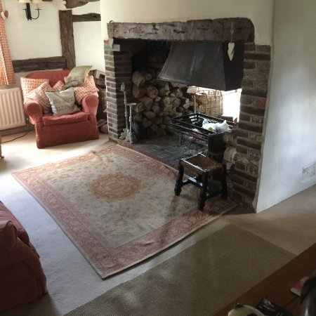 Chiddingfold, UK: other side of the fireplace / living room
