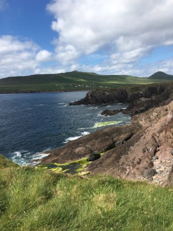 Views of the Dingle Coast and walking trail from Gorman's Clifftop House Hotel