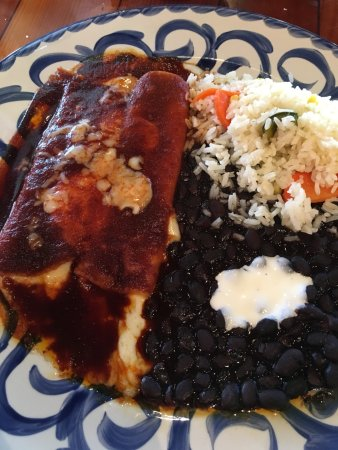 Lakeway, TX: Cheese Enchiladas Adobadas