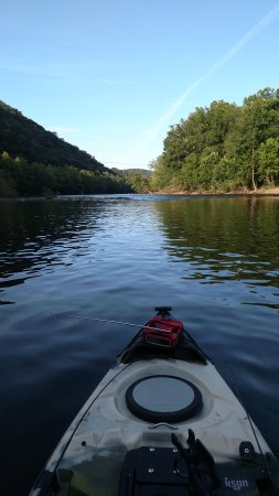 Buchanan, Wirginia: Kayak fishing the James