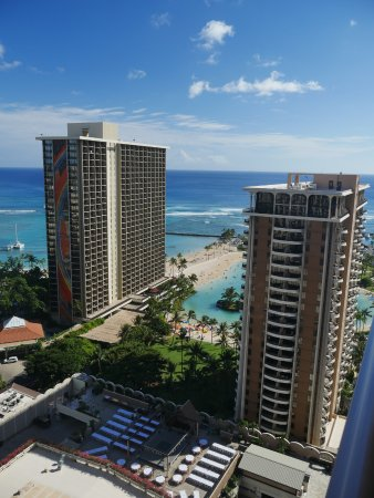 Grand Waikikian by Hilton Grand Vacations: View from a 2-bedroom premier suite on the 28th floor
