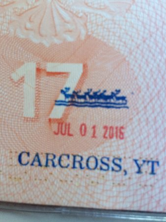 Carcross, Canada: Мой штамп