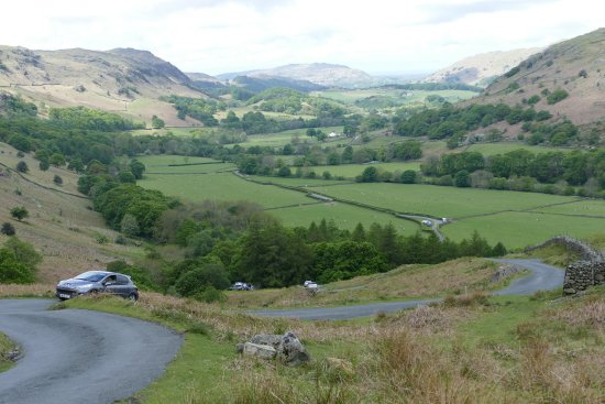 Eskdale, UK: View looking back from about a third of the way up