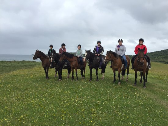 Caherdaniel, Irlande : Lined up for our photo