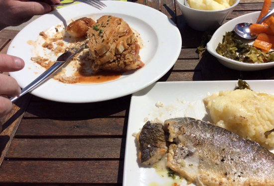 The Whistledown Hotel: Not often you get the option of sea bass in a Sunday set menu!
