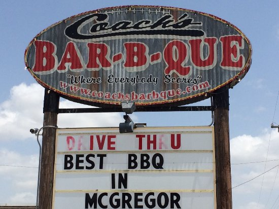 McGregor, TX: sign