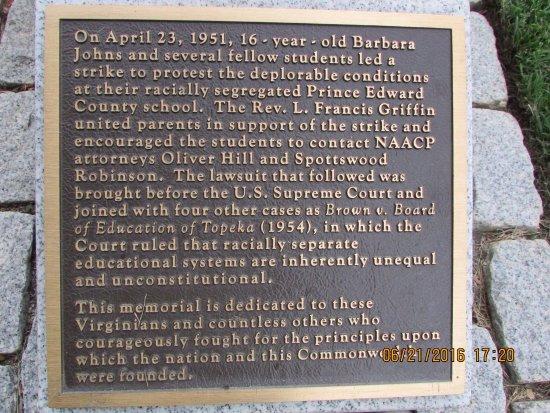 Virginia Civil Rights Monument