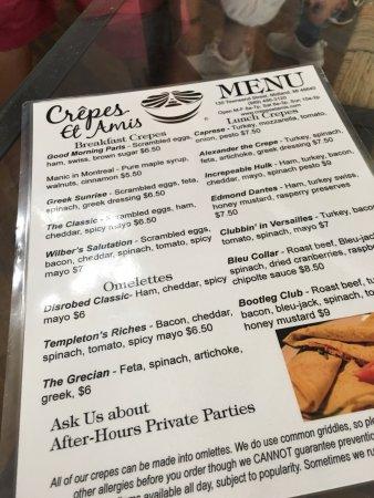 Midland, MI: menu easier to read than chalkboard