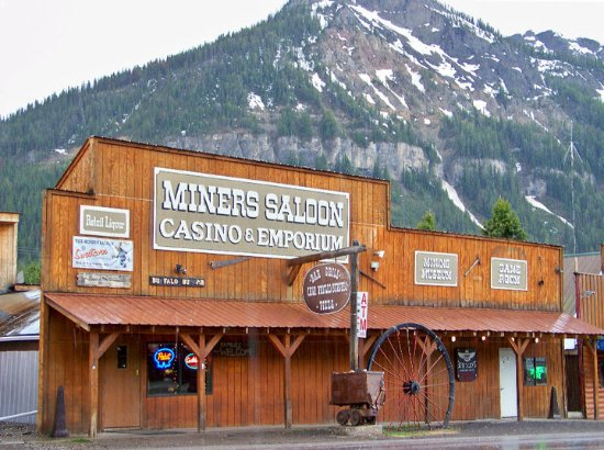 Miners Saloon, 208 Main St, Cooke City, MT, (406) 838-2214. Can't miss it, look for all of the c