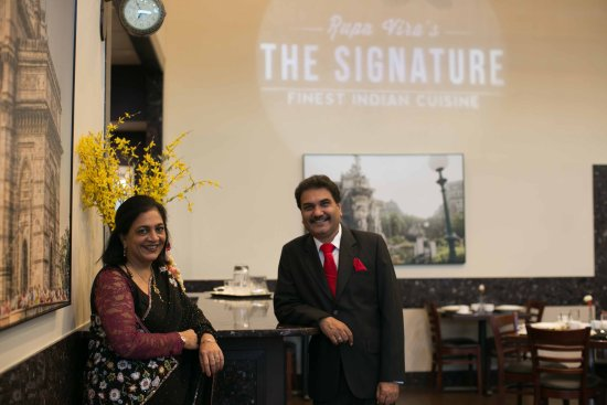 Ashburn, VA: Executive Chef rupa Vira & General Manager Sharad Vira