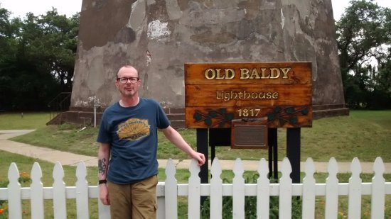 Bald Head Island, Carolina del Norte: An old baldy in front of Old Baldy