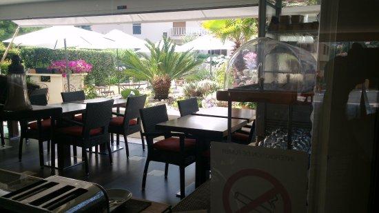 salon de desayuno con hermoso jardin al fondo - Picture of Hotel ...