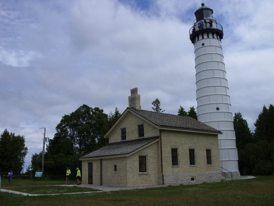 Baileys Harbor, WI: lighthouse & keepers house