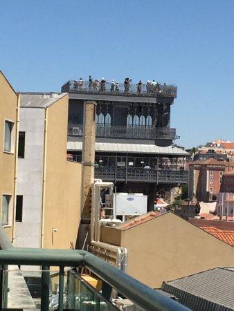 Hotel do Chiado : Santa Justa Elevator seen from the balcony