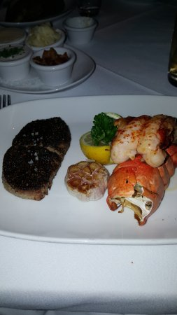 Strip House: Butterflied 6oz filet and lobster tail