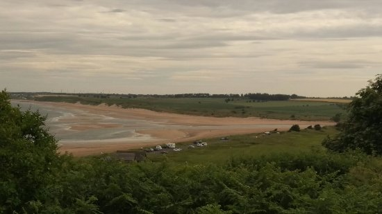 Alnmouth, UK: Panoramic view from top of battery