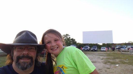 Jefferson, WI: My older daughter and I, from back near the concession stand.