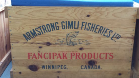 Loved this Gimli Fisheries crate!