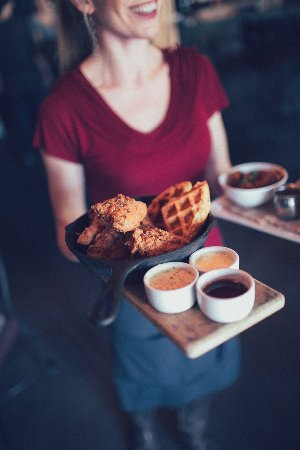Purple Cafe and Wine Bar: Fried Chicken Wednesday
