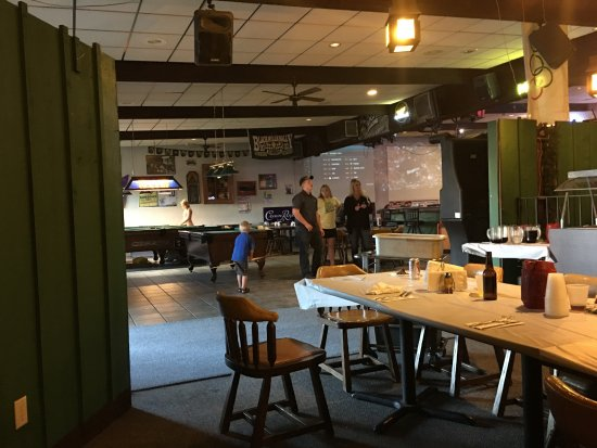 Mauston, WI: View of bar and pool tables