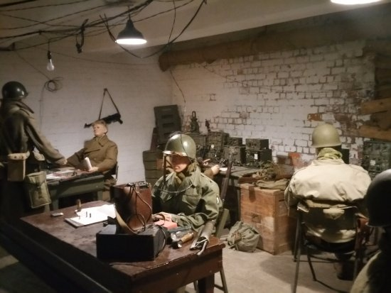 Part of the 101st Airborne basement HQ - Picture of Bastogne