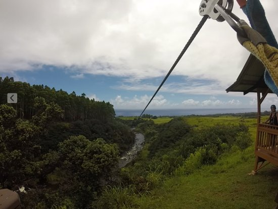 Hakalau, HI: The best, longest, most scenic run over the stream, waterfalls, and lava tube.