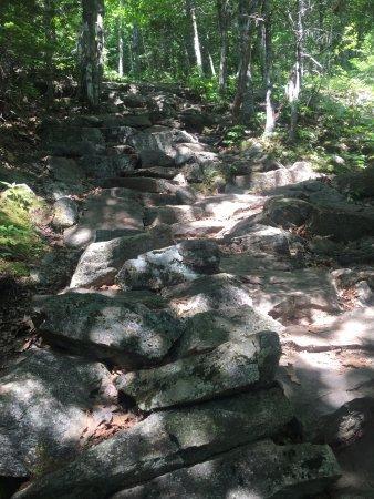 Camden, ME: Some areas are a steep climb!