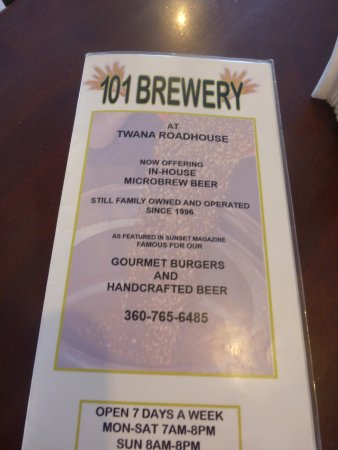 Quilcene, WA: Menu and Info