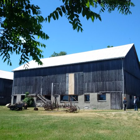 By Chadsey's Cairns Winery and Vineyard: Lovely big old barn for events!
