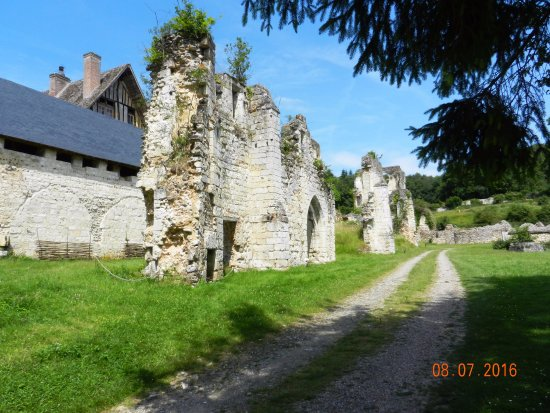 Haute-Normandie, France: Part of house and ruins