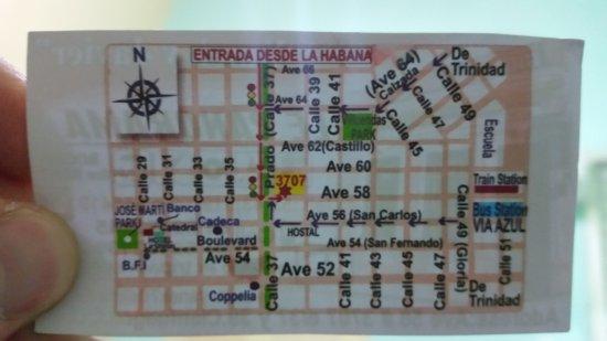 Casa Yanek y Javier: Map to the treasure