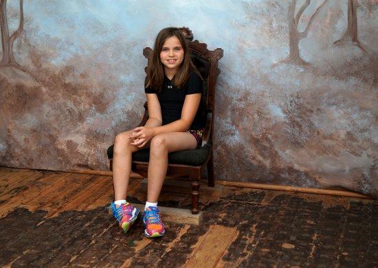 """H.H. Bennett Studio: The """"portrait room""""."""