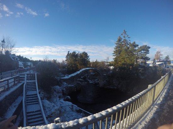 Aviemore, UK: View of the bridge in winter time